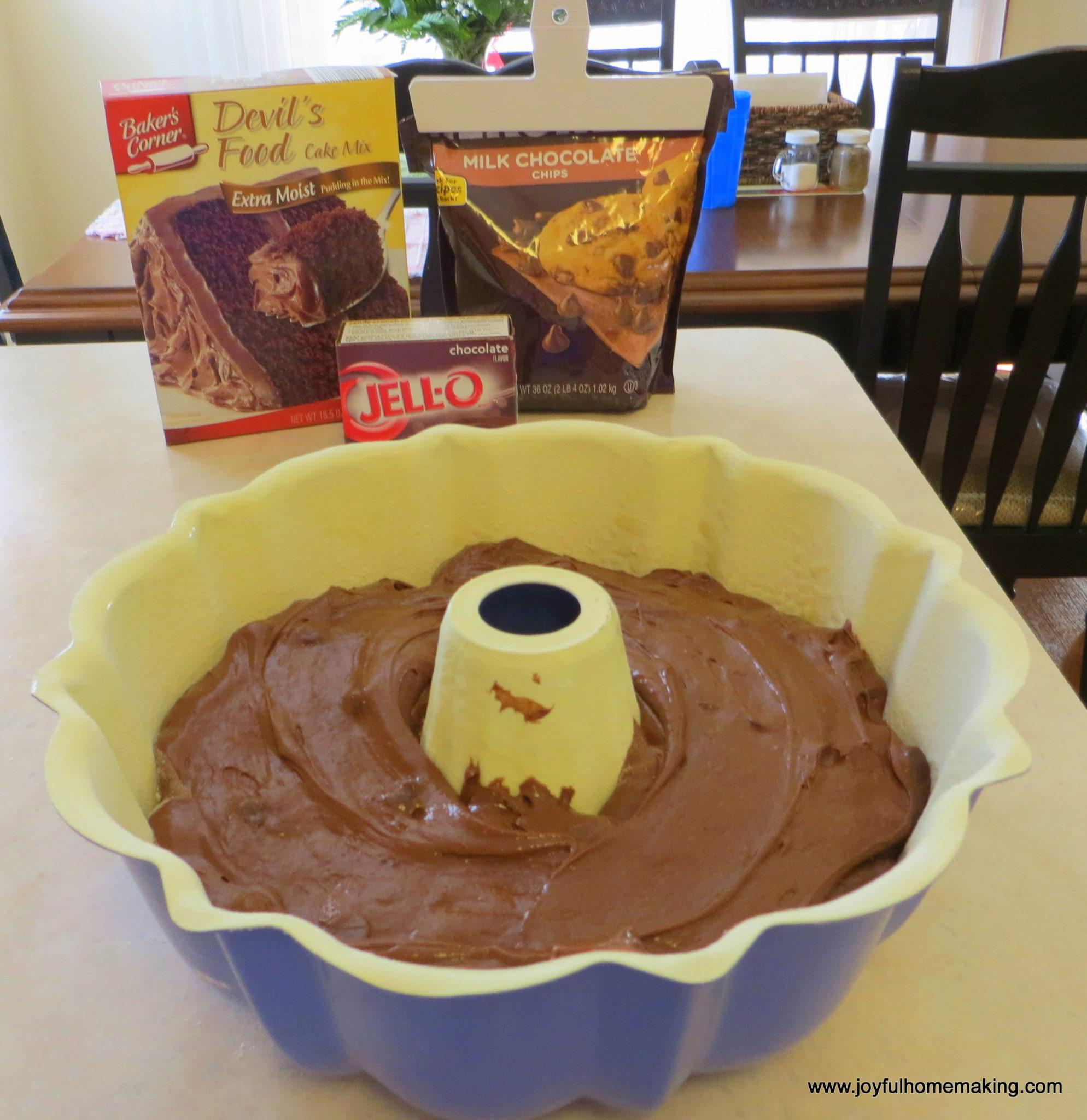 Cup Oil  Devils Food Cake