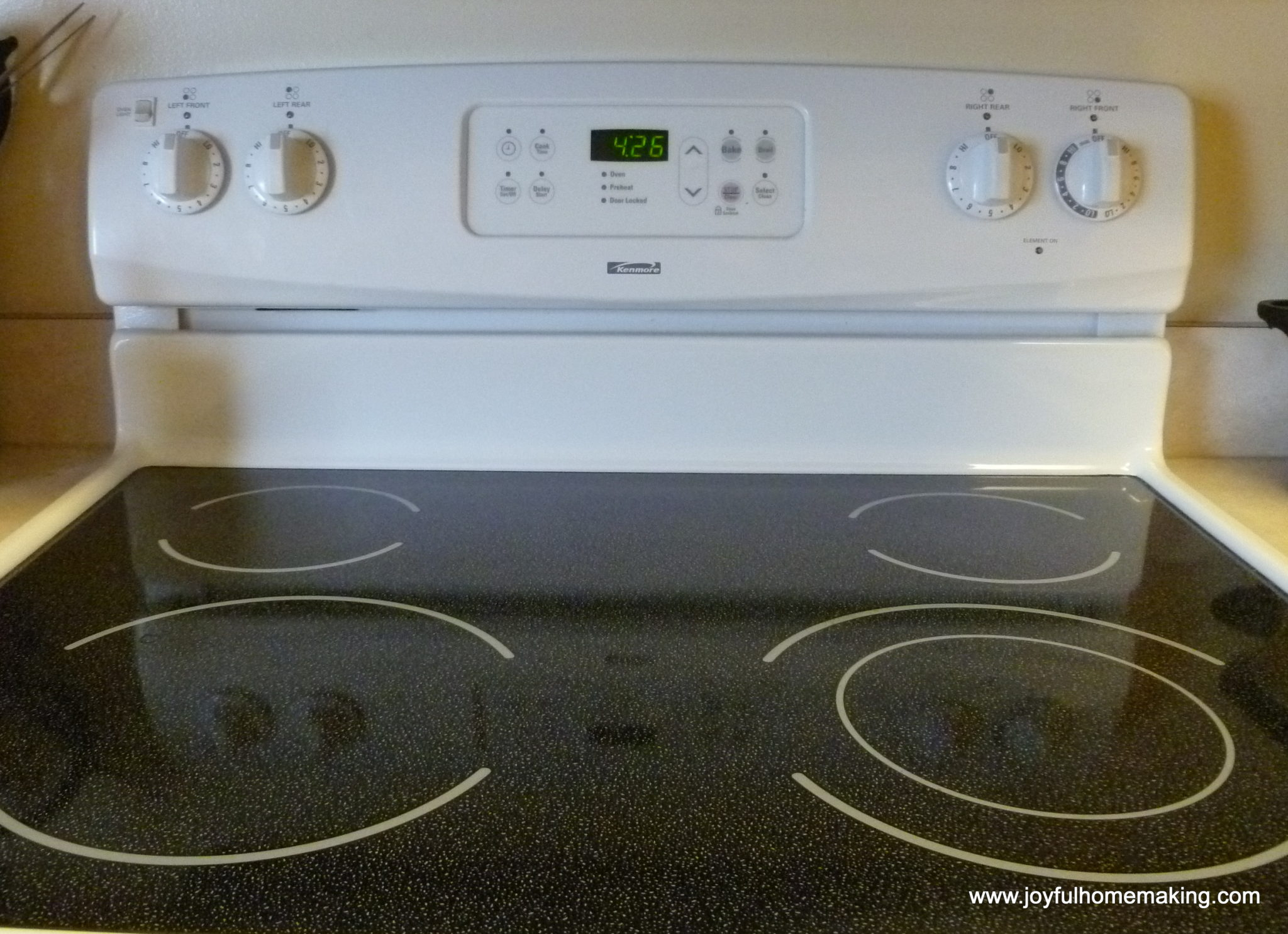 How to clean a stove top made of glass joyful homemaking How to clean top of oven