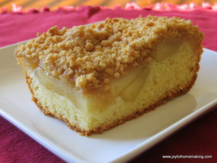Apple Pie Cake Joyful Homemaking