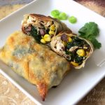 Baked Chicken & Spinach Egg Rolls