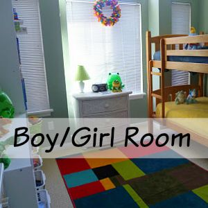 boy and girl shared room