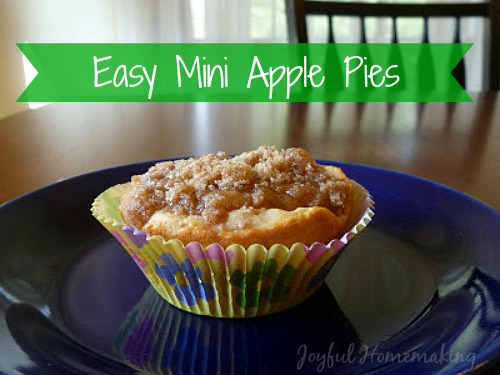 Easy Mini Apple Pies that use canned biscuits as a crust!