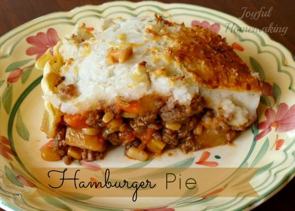 Hamburger Pie - Joyful Homemaking