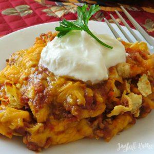 taco casserole featured