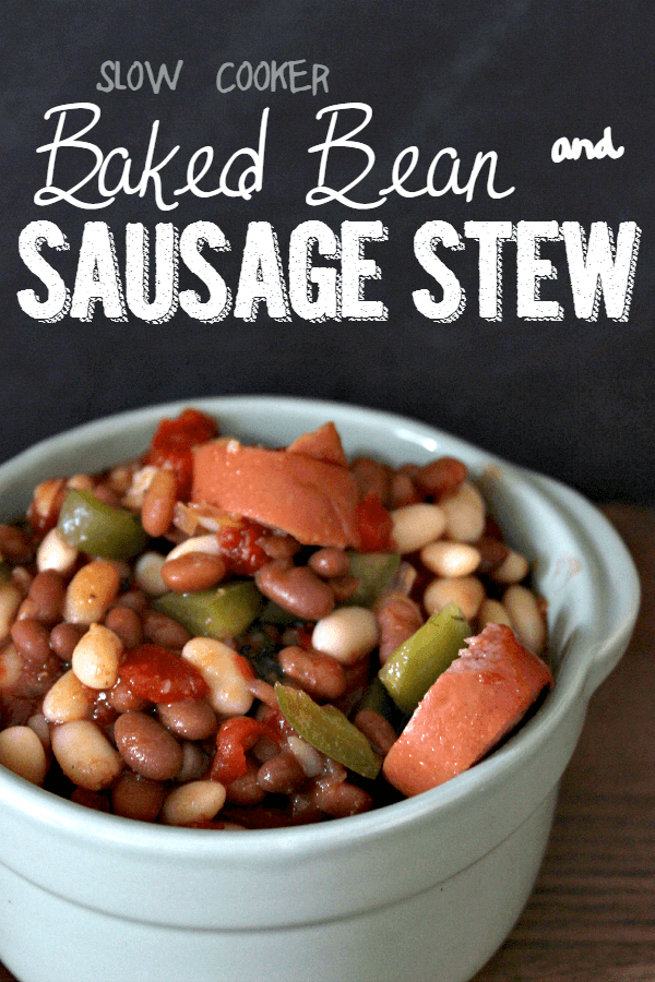 Slow Cooker Baked Bean Sausage Stew