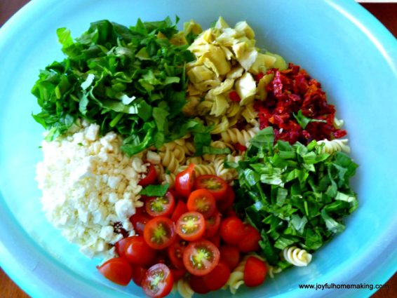 pasta salad sundried tomatoes, Pasta Salad, Joyful Homemaking
