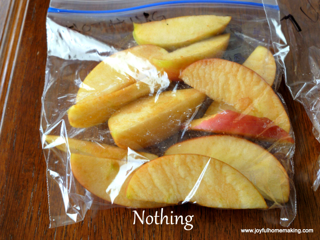 Keep apples fresh in lunch box
