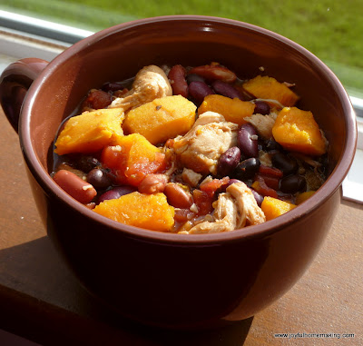 Crockpot Quinoa, Chicken & Sweet Potato Stew