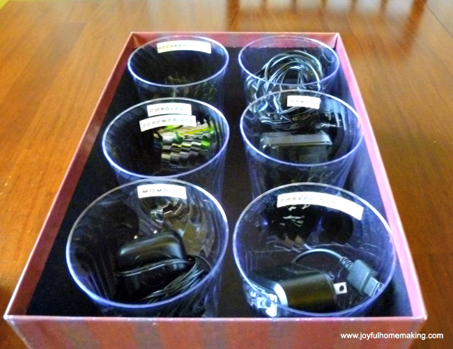 Organizing Cords, Joyful Homemaking