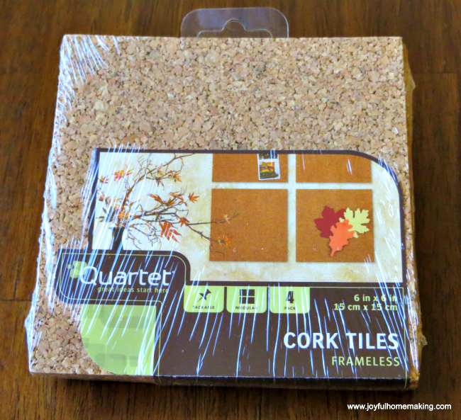 Put a Corkboard on the inside of your kitchen cabinet