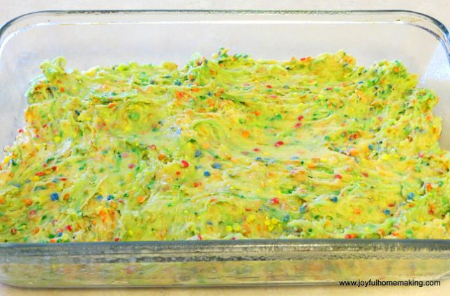 Cake Mix Confetti Blondies