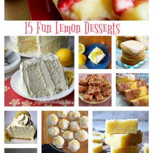 15 Fun Lemon Desserts