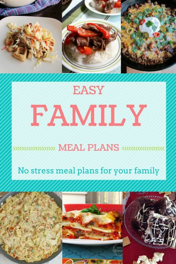 meal planning, Family Meal Plan Ideas for the Week, Joyful Homemaking