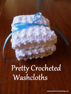 , 2 Easy Crocheted Gifts, Joyful Homemaking