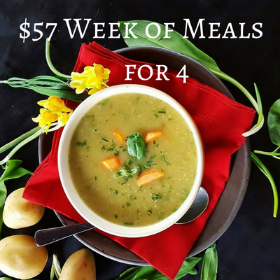 $57 Week of Meals for a Family of Four