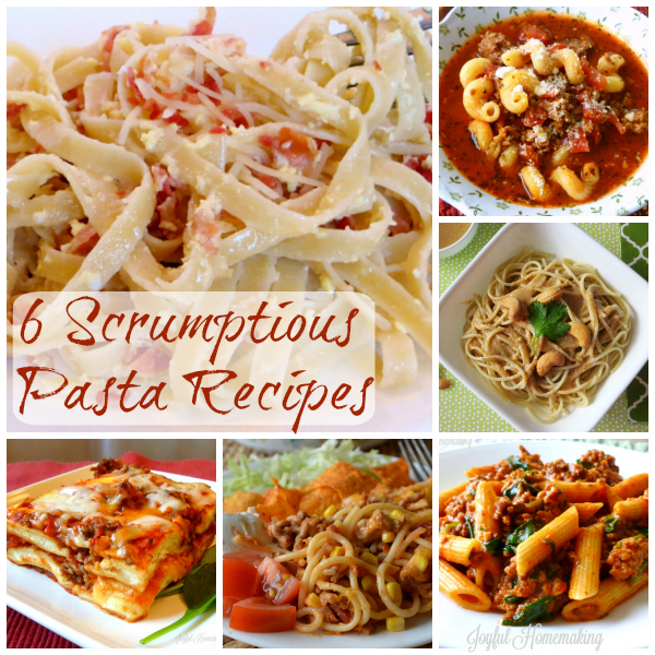 6 pasta recipes
