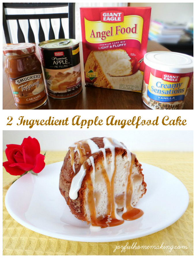 2 Ingredient Apple Angelfood Cake