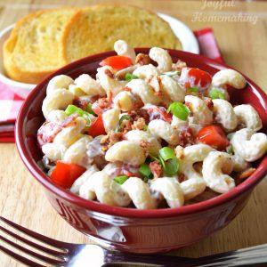 BLT Pasta Salad, Joyful Homemaking