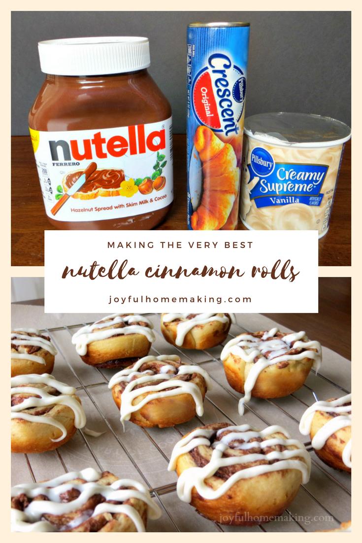 """nutella cinnamon rolls, Nutella """"Cinnamon"""" Rolls, Joyful Homemaking"""