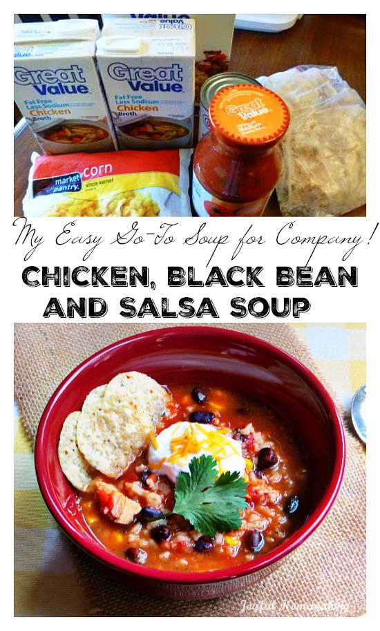 chicken black bean salsa soup, Chicken, Black Bean & Salsa Soup, Joyful Homemaking