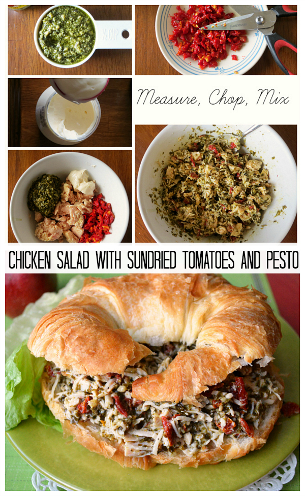 Chicken Salad Sandwiches with Sundried Tomatoes and Pesto