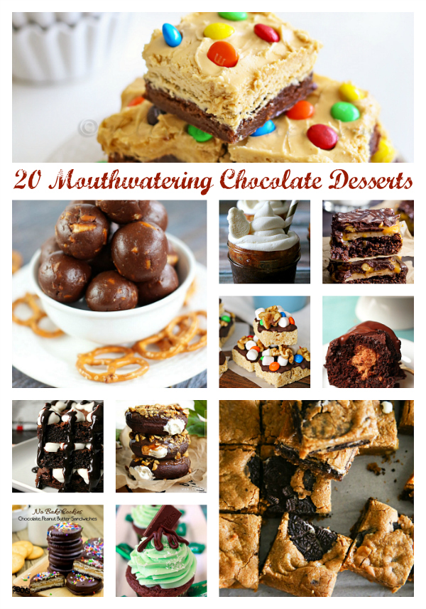 20 Mouthwatering Chocolate Desserts