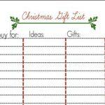 Free Christmas List Printable