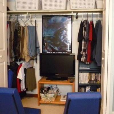 Organized Closet and Gaming Station
