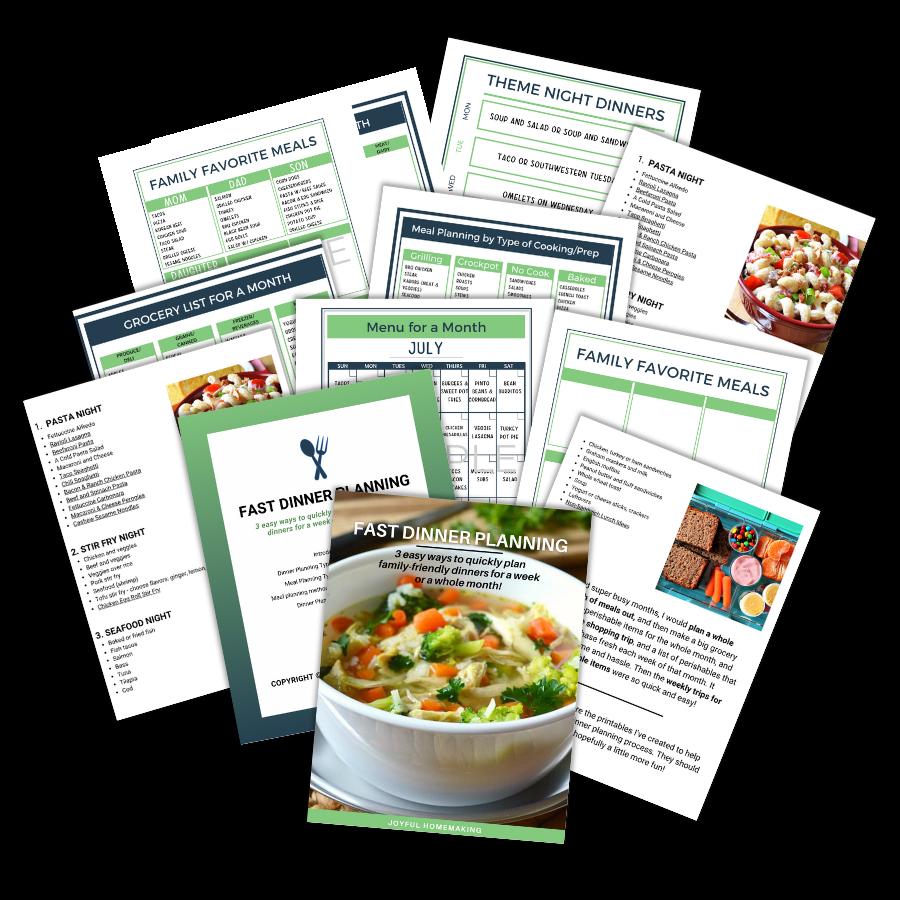 , Fast Dinner Planning, Joyful Homemaking