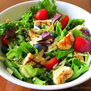 Berry Almond Chicken Salad, Berry Almond Chicken Salad, Joyful Homemaking