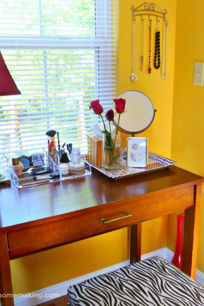 , Update a Desk with Spray Paint, Joyful Homemaking