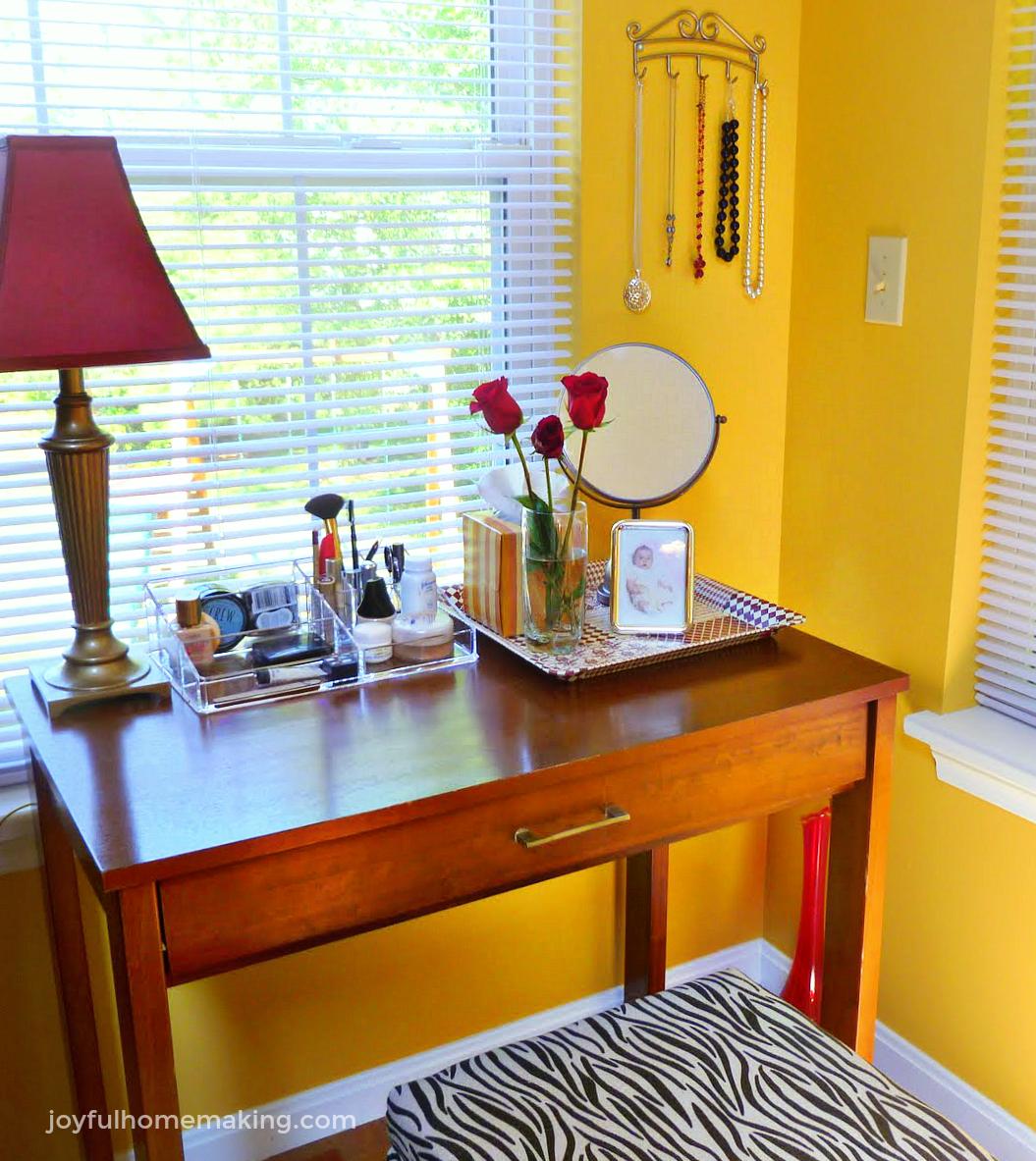 Vanity Area Update, Joyful Homemaking