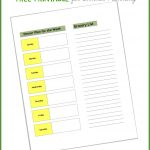 Dinner Planning & Grocery List Printable