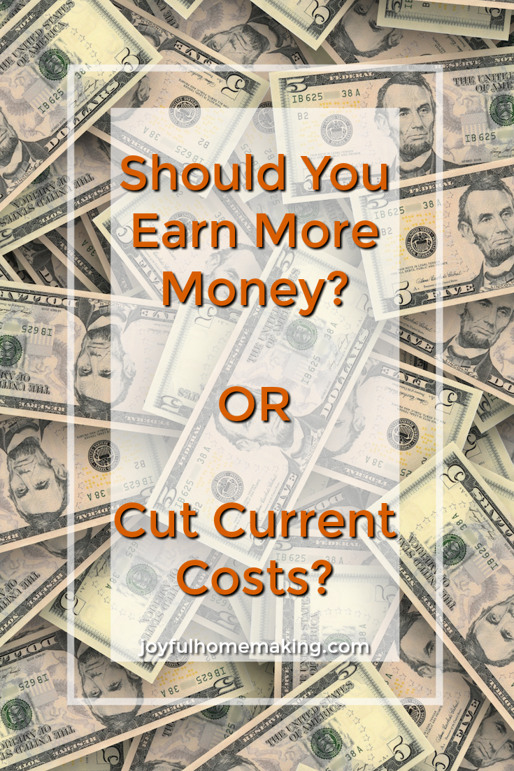 Should You Earn More Money or Cut Current Costs?