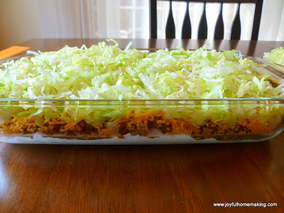 layered taco dip, Everybody's Favorite Layered Taco Dip, Joyful Homemaking