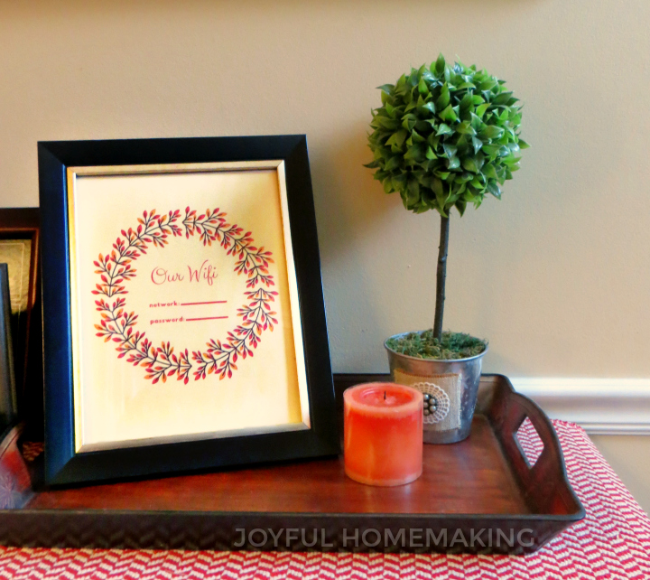 , Fall WiFi Password Printable, Joyful Homemaking