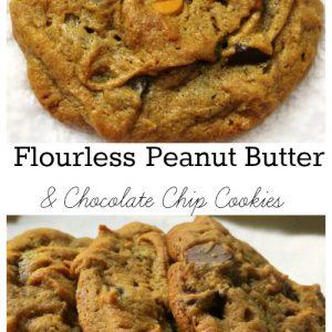 flourless Peanut butter and chocolate chip cookies, Flourless Peanut Butter and Chocolate Chip Cookies, Joyful Homemaking