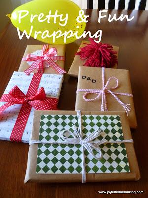 , Frugal and Fun Wrapping Ideas, Joyful Homemaking