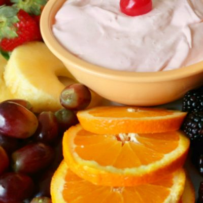 Scrumptious Fruit Dip and Fruit Tray