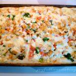 garlic chicken vegetable pizza, Garlic Chicken Vegetable Pizza,