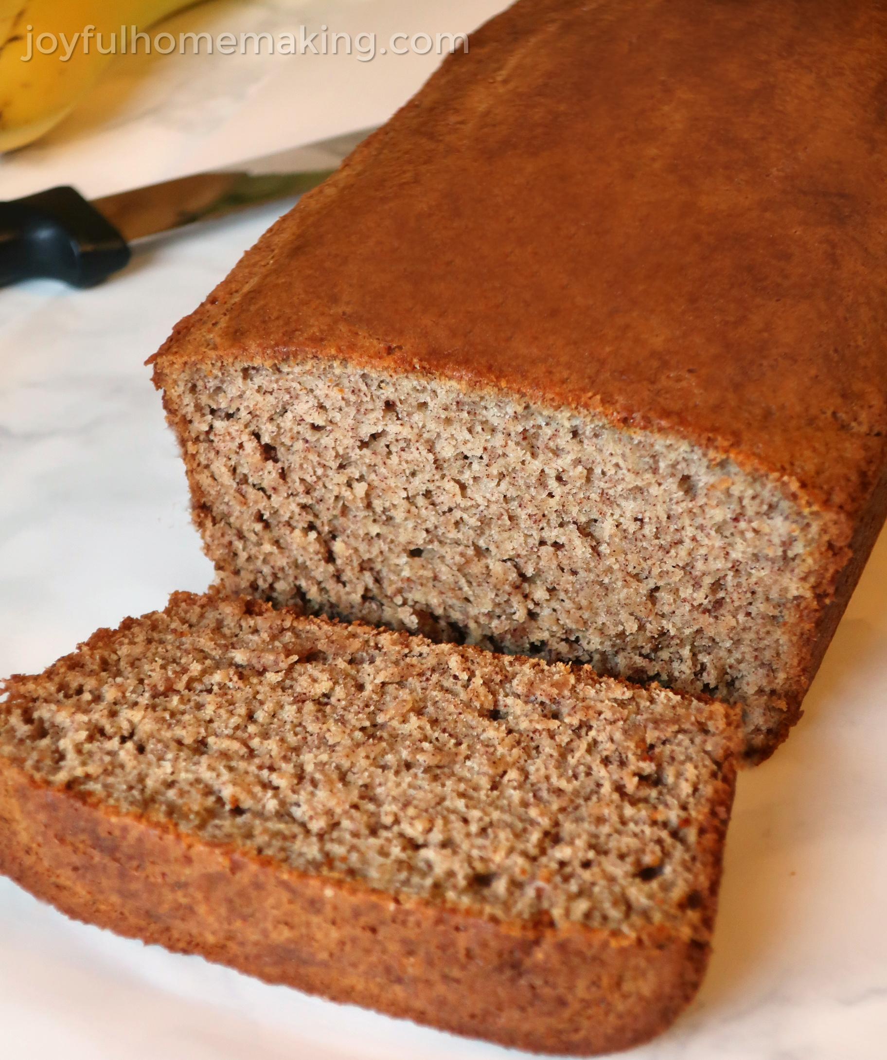 , Gluten Free Banana Bread, Joyful Homemaking