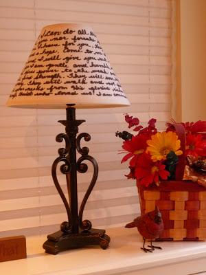 Handwritten Lampshade, Joyful Homemaking