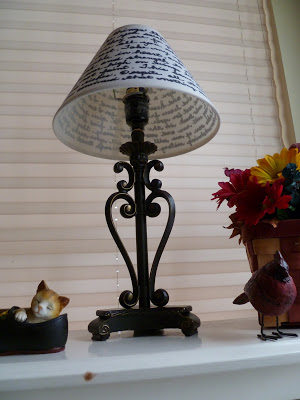 lampshade, Handwritten Lampshade,
