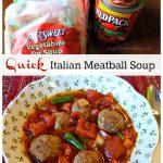 italian meatball soup, Quick Italian Meatball Soup,