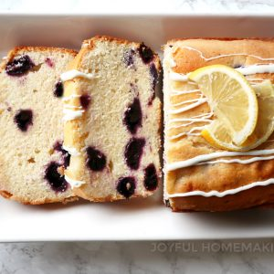 Luscious Lemon Blueberry Bread, Joyful Homemaking
