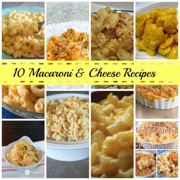 Mac and cheese collage