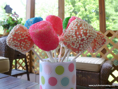 , Marshmallow Pops, Joyful Homemaking