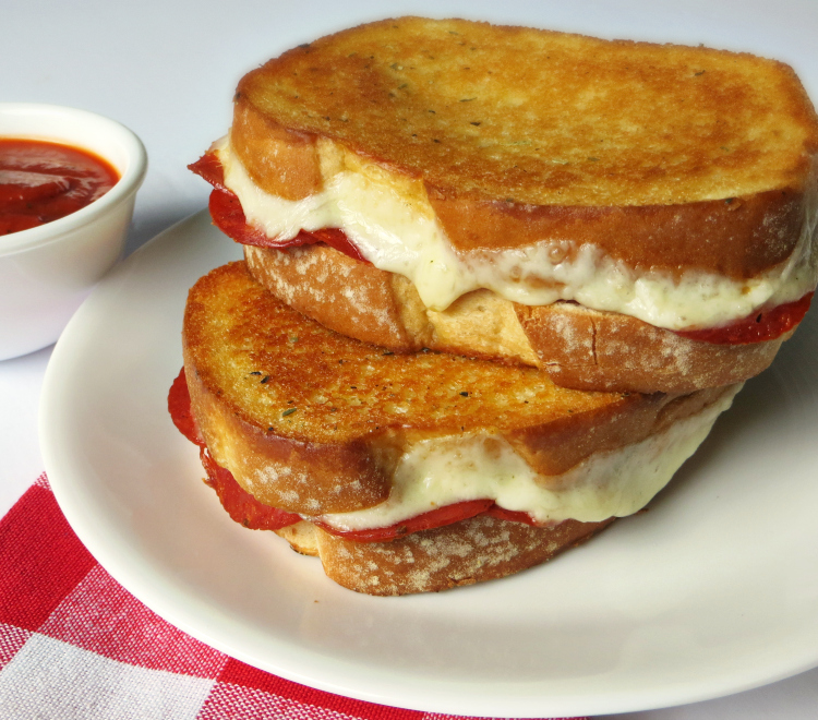 Oven Baked Pizza Grilled Cheese Sandwiches, Joyful Homemaking