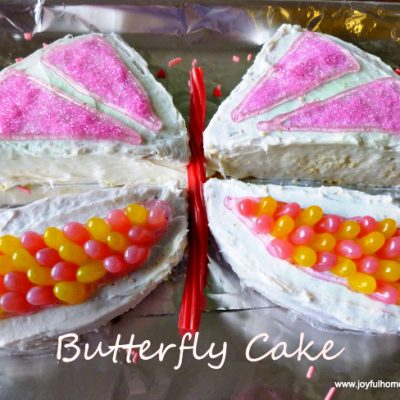 Little Girl's Butterfly Cake