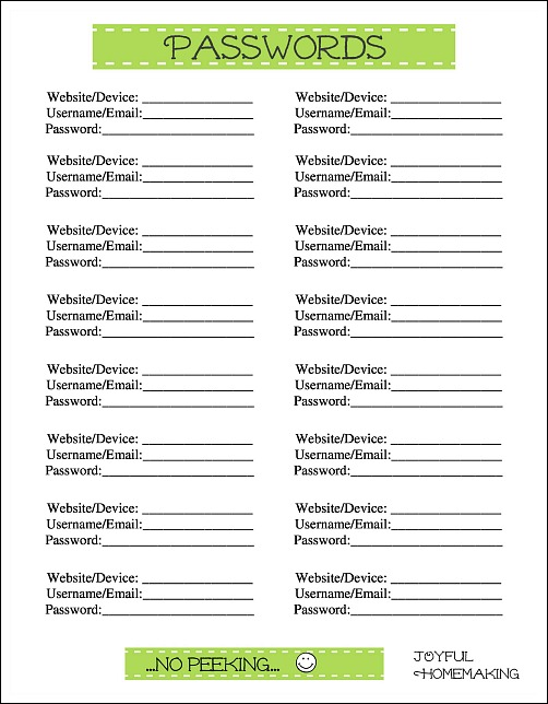 photo relating to Password Printable identify No cost Pwords Printables - Delighted Homemaking